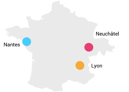 Implantation HutisA Nantes Lyon Neuchâtel 2